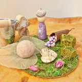 Indoor fairy garden with fairy pegdoll play set