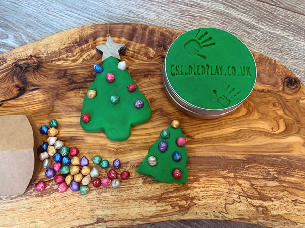 Mini Xmas Tree Lights playdough Kit
