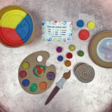 colour mixing gluten free playdough set