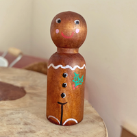 christmas gingerbread man pegdoll
