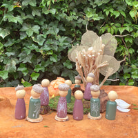 hand painted Fairy Peg Dolls for fairy gardens