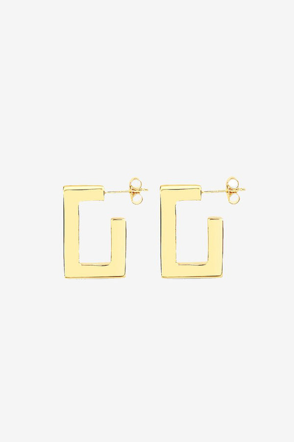 SQUARE PLAZA HOOPS - 14K VERMEIL - FLASH JEWELLERY