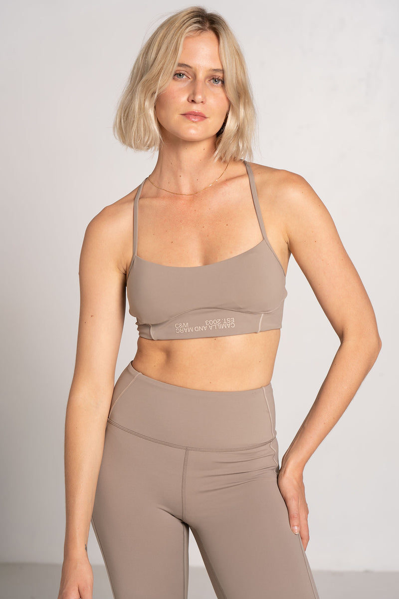 KENNEDY PANELLED CROP DARK STONE - C+M