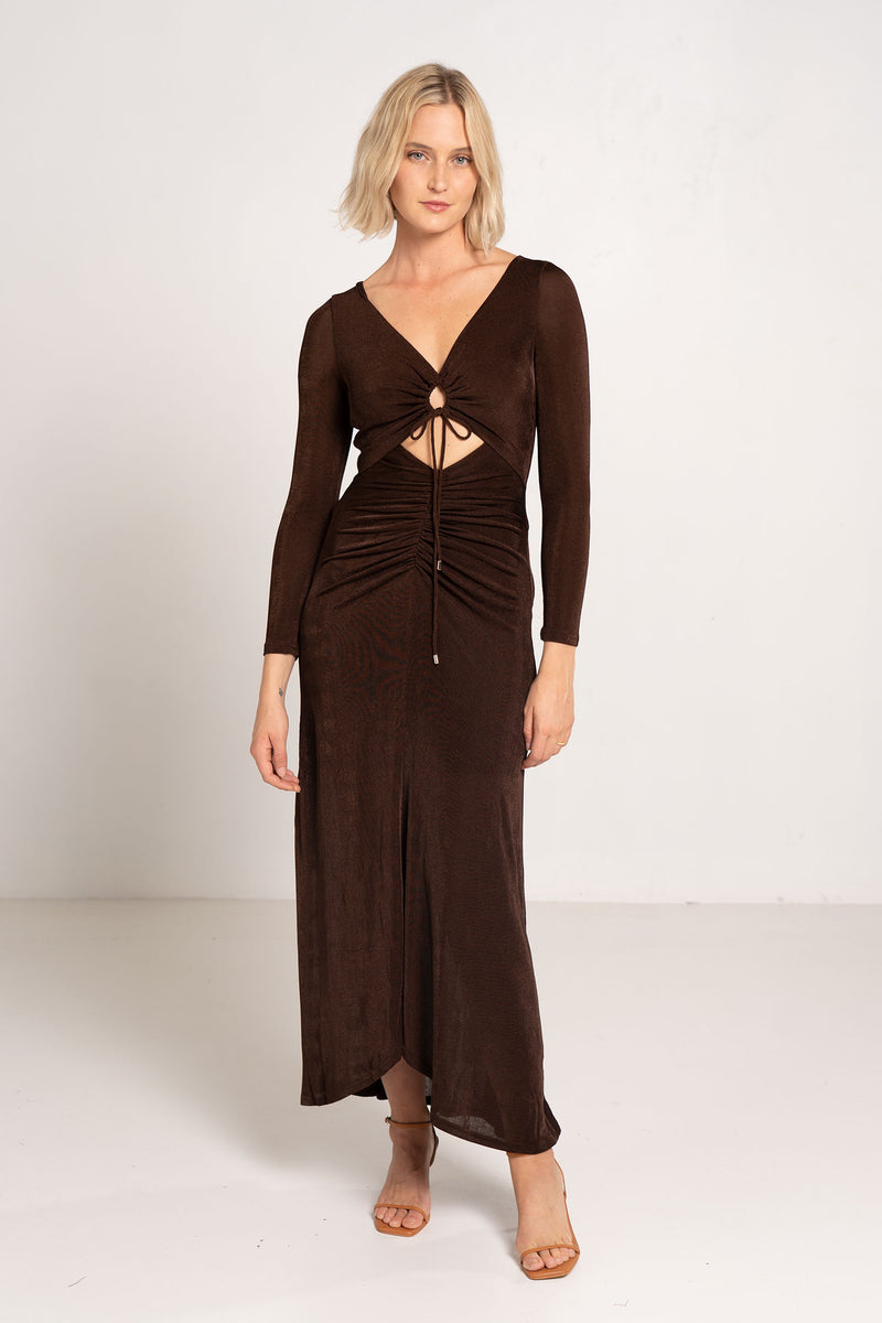NEAVE DRESS CHOCOLATE - SIGNIFICANT OTHER