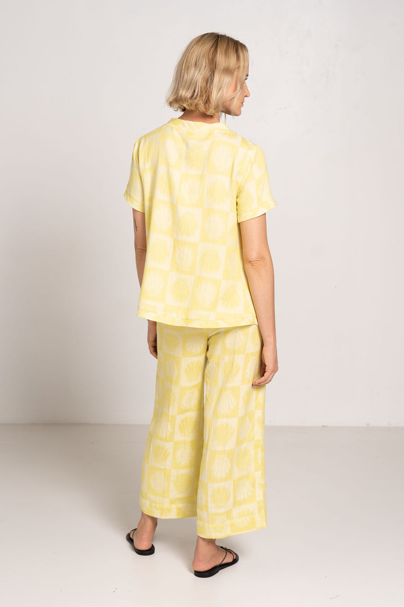 HELEN TROUSERS CANARY YELLOW - CECILIE COPENHAGEN