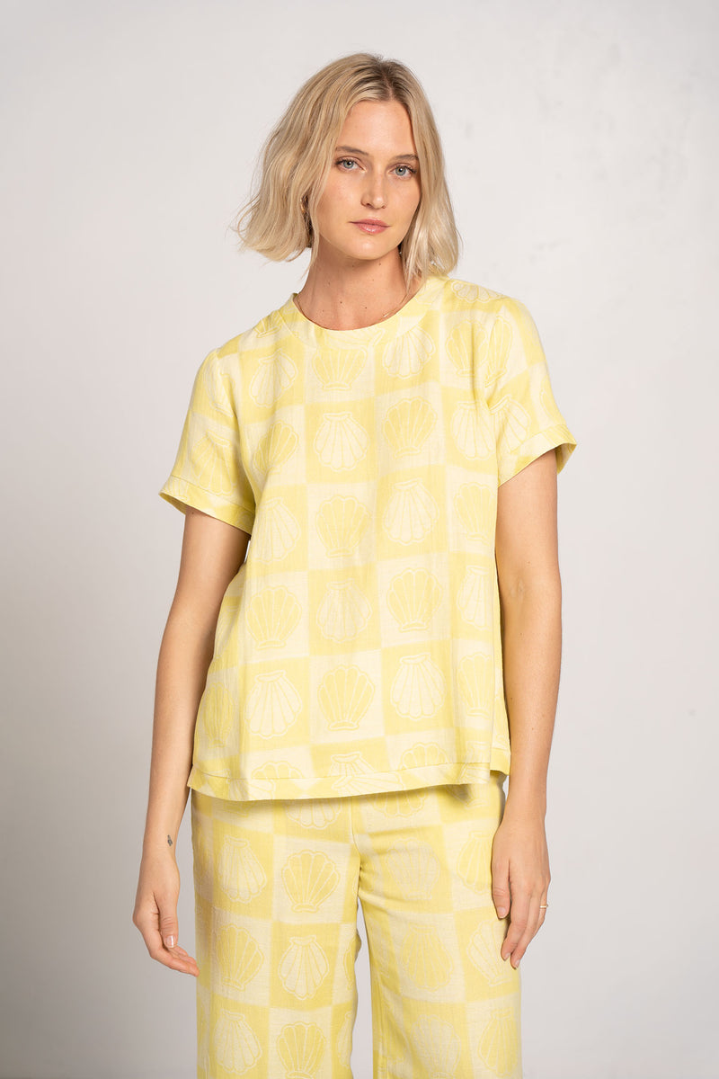 SHIRT O SS SHELL CANARY YELLOW - CECILIE COPENHAGEN