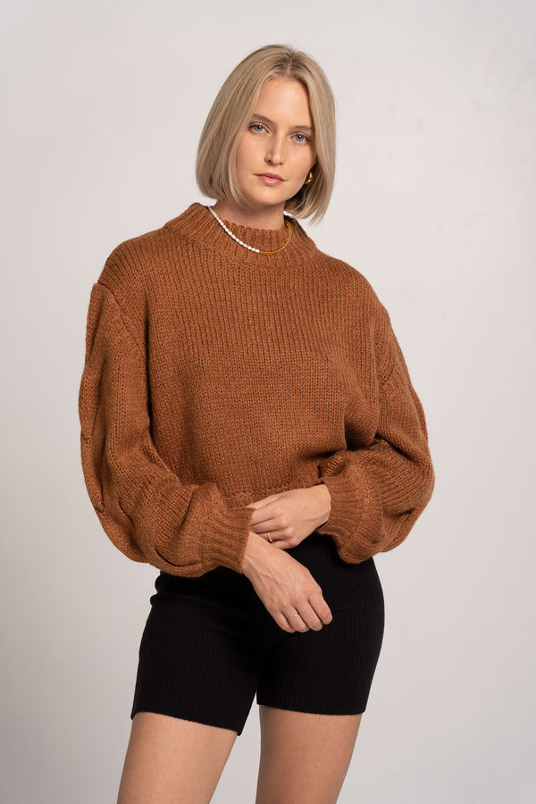 CELESTE KNIT JUMPER CLAY - BEC + BRIDGE