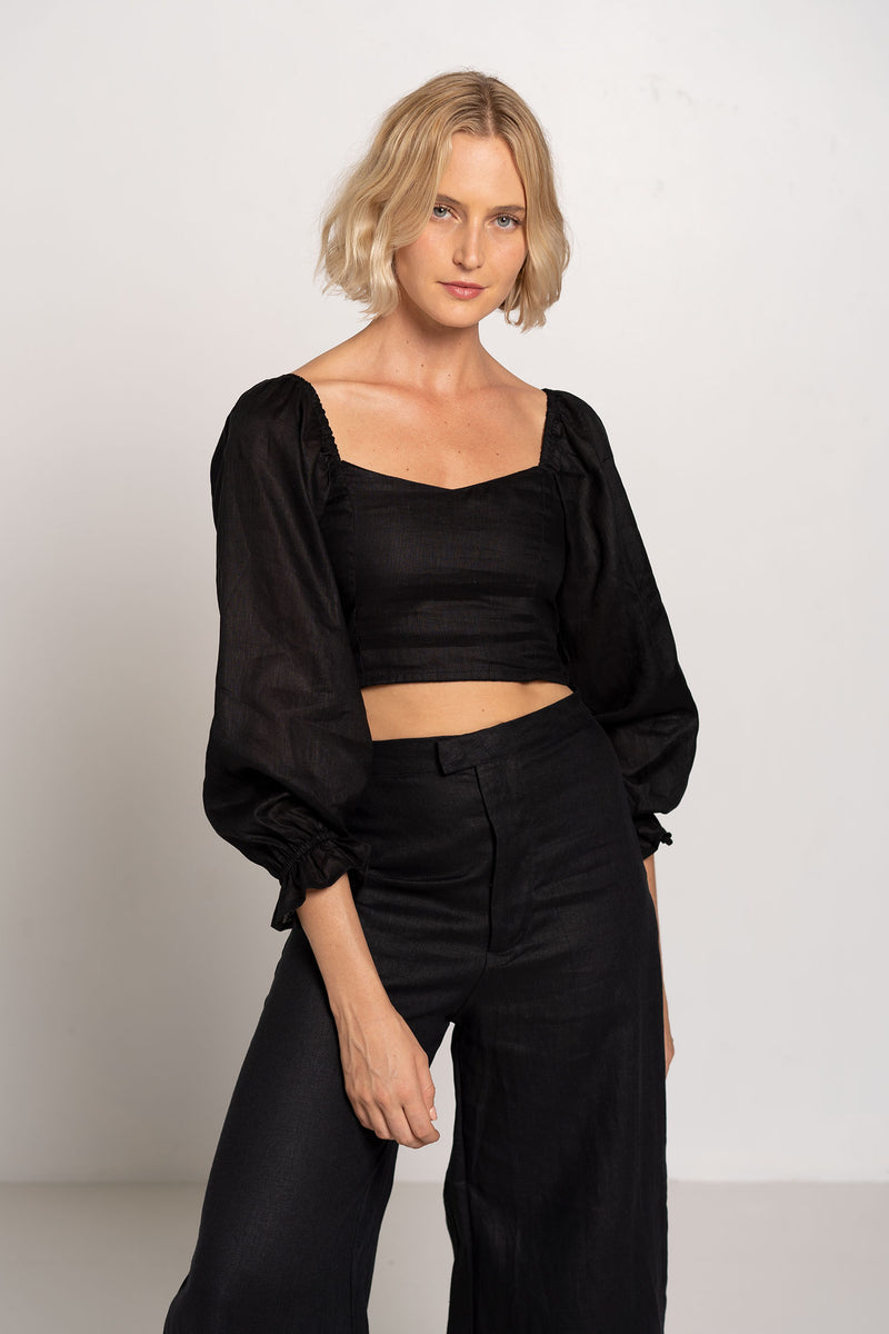 CARMODY TOP BLACK - FAITHFULL THE BRAND