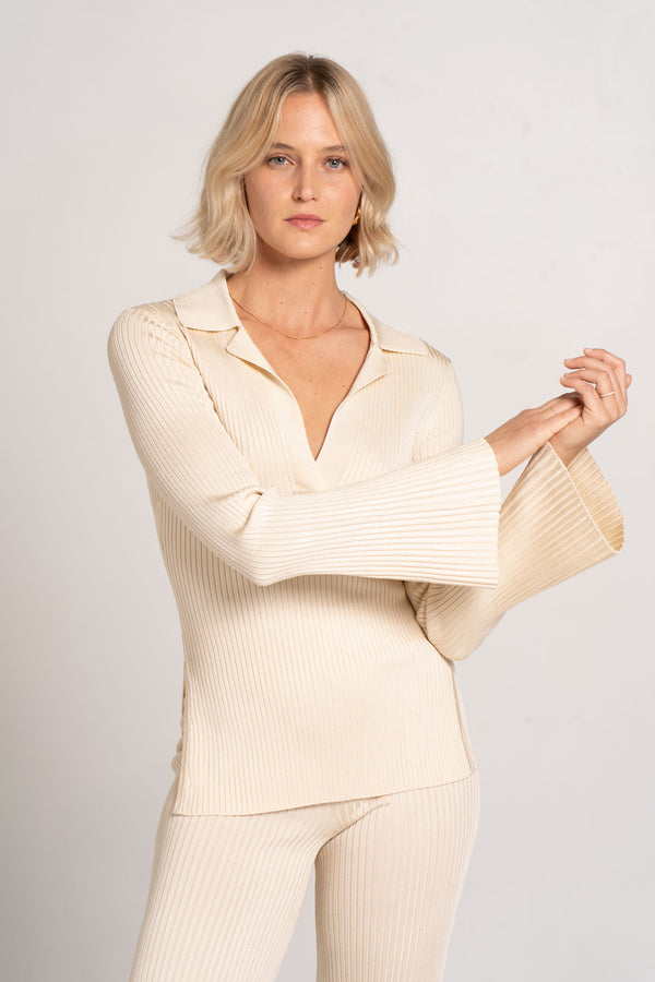SOFIA KNIT TOP CREAM - SIGNIFICANT OTHER