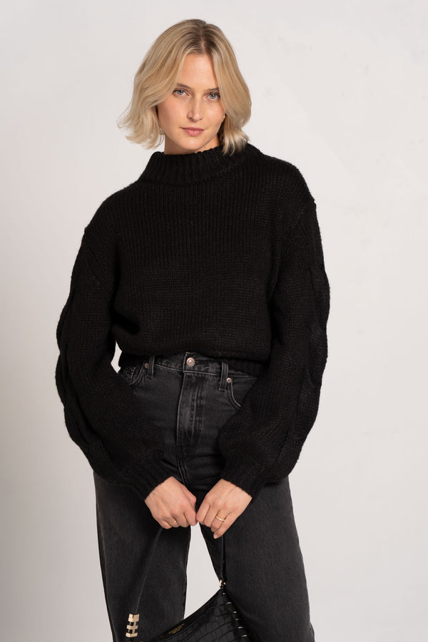 CELESTE KNIT JUMPER BLACK - BEC + BRIDGE