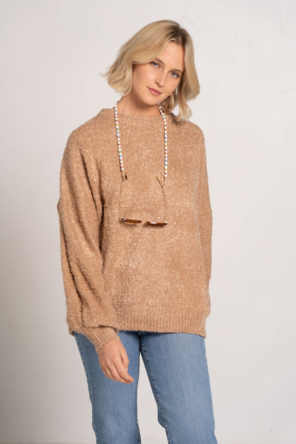 SOOTHING KNIT JUMPER CHESTNUT - ZULU + ZEPHYR