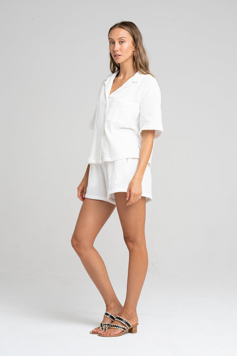 ISLAND SHIRT NATURAL - SARA FOX THE LINE