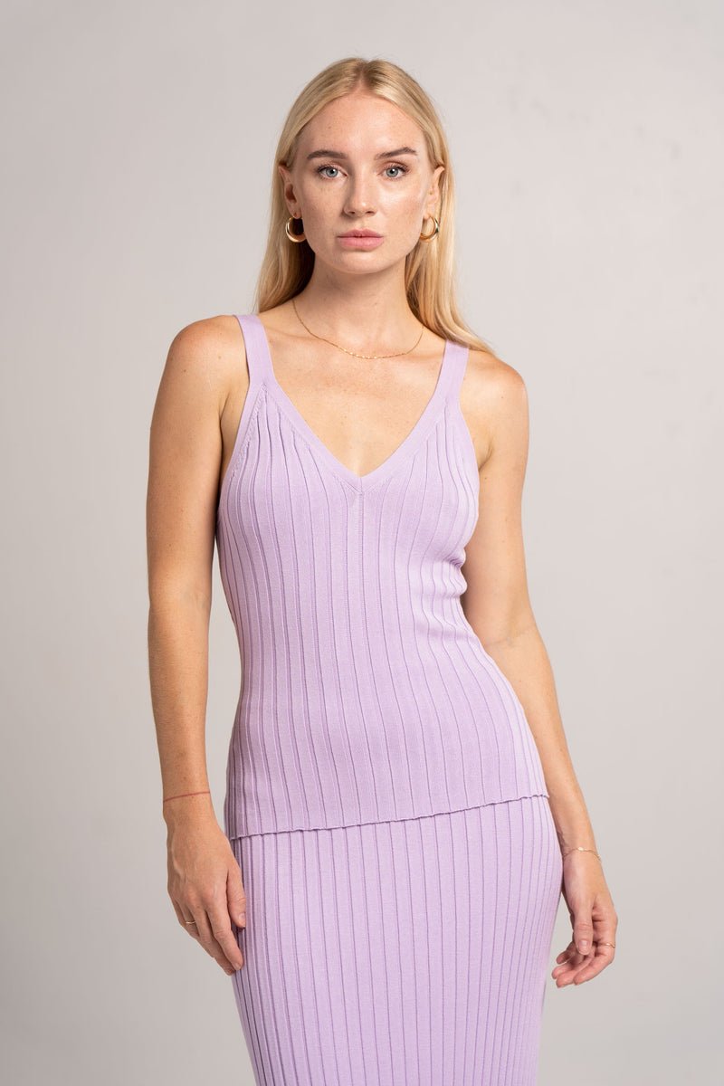 ARIANA KNIT CAMI TOP LILAC - SIGNIFICANT OTHER