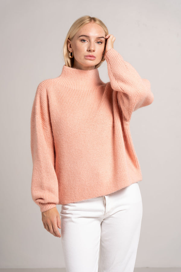 TANAMI KNIT JUMPER DUSTY PINK - C+M