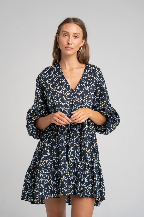 DEL RAY DRESS TINY FLORAL - SARA FOX THE LINE