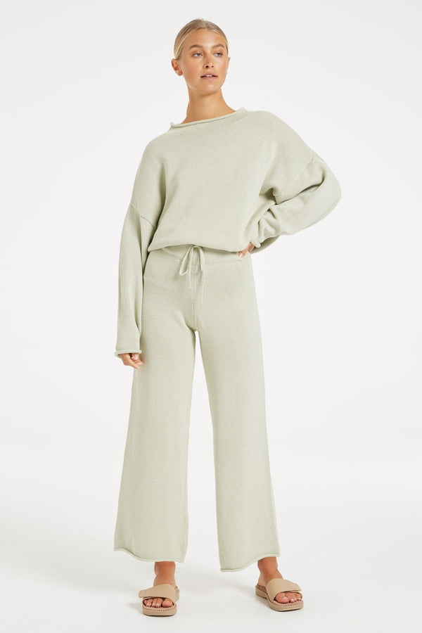 RELAX KNIT PANT COOL SAGE - ZULU + ZEPHYR