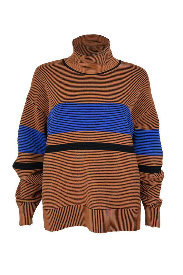 RETRO RIB SWEATER BRONZE - NAGNATA