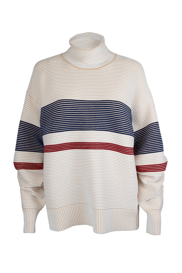 RETRO RIB SWEATER CREAM - NAGNATA