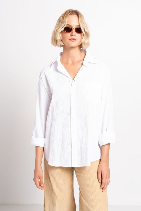 OLIVIA SHIRT WHITE - SARA FOX THE LINE