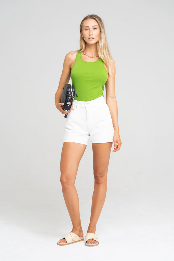 SOLANGE SHORT VINTAGE WHITE - SARA FOX THE LINE