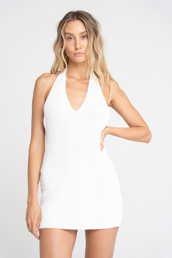 FRANCESCA KNITTED MINI WHITE - SARA FOX THE LINE