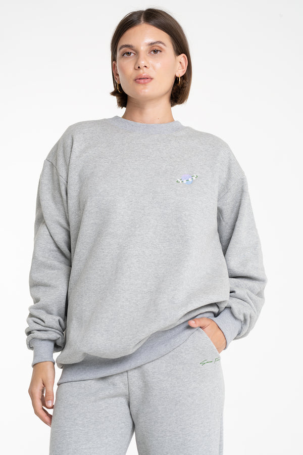 SATURN TRACK TOP GREY - SARA FOX THE LINE
