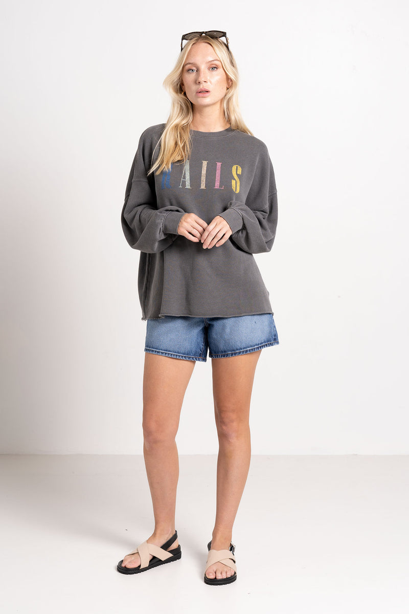SIGNATURE SWEAT VINTAGE BLACK - RAILS LA