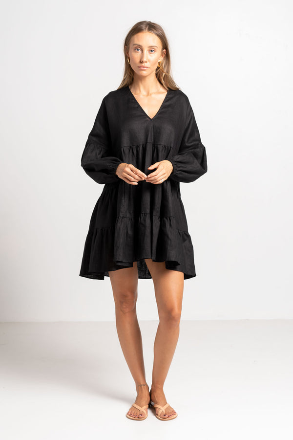 DEL RAY DRESS BLACK - SARA FOX THE LINE