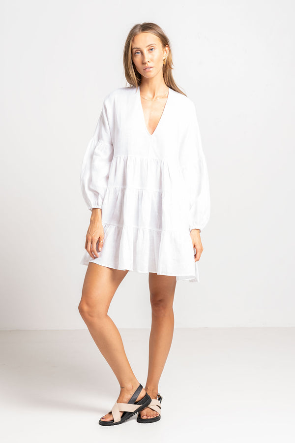 DEL RAY DRESS WHITE - SARA FOX THE LINE
