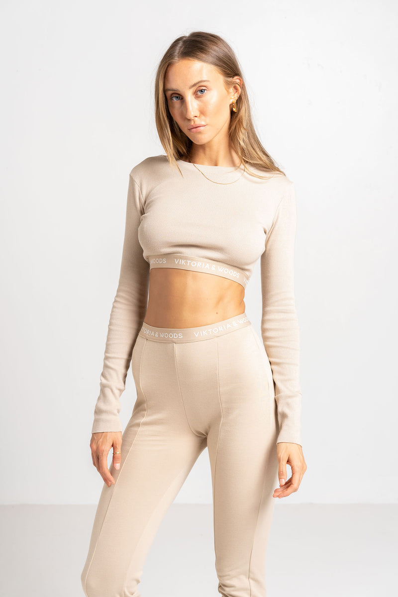 VENUS CROP TOP BARLEY - VIKTORIA + WOODS