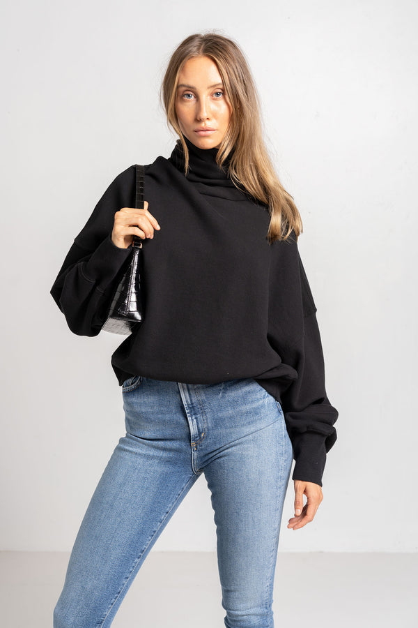 BALLOON SLEEVE TURTLENECK SWEATSHIRT - AGOLDE