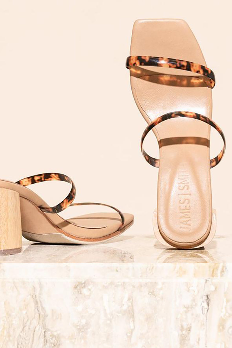 SIRENUSE STRAP SANDAL TORTOISESHELL - JAMES SMITH