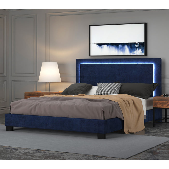 LUMINA-78'' BED-BLUE