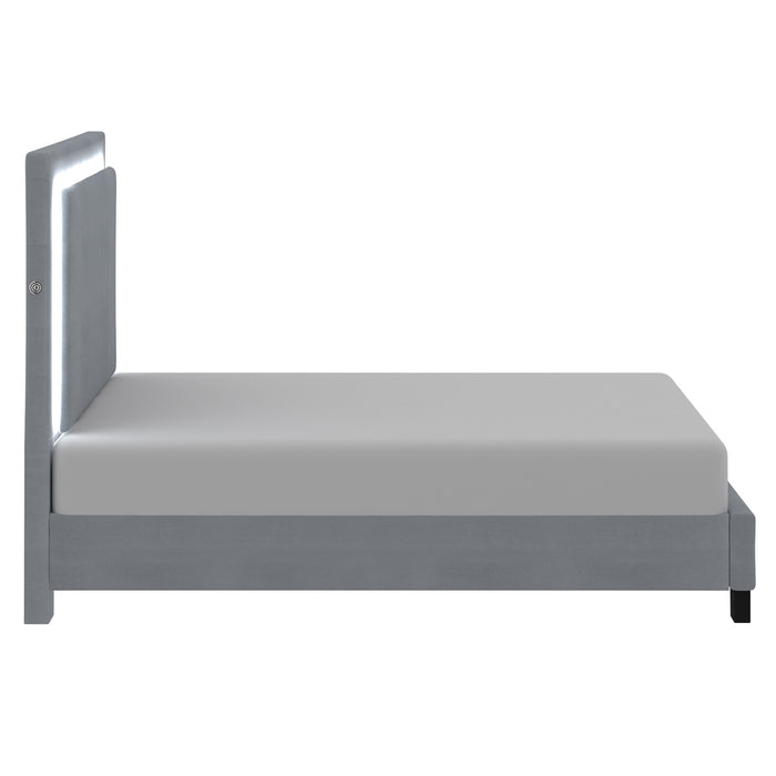 LUMINA-60'' PLATFORM BED-GREY