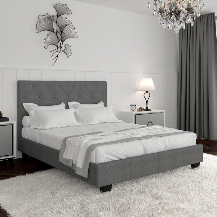 "SUMMIT-60"" PLATFORM BED-GREY"