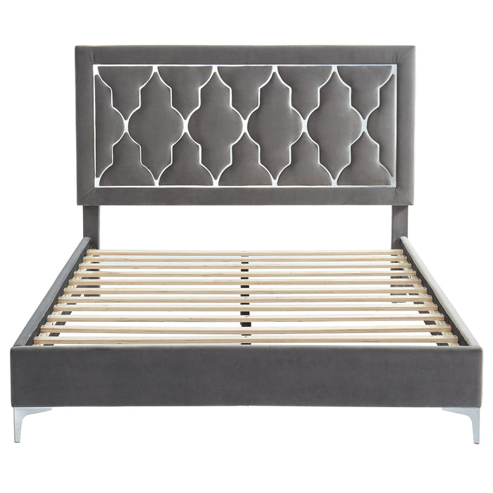 "DOLCE-60"" PLATFORM BED-GREY"