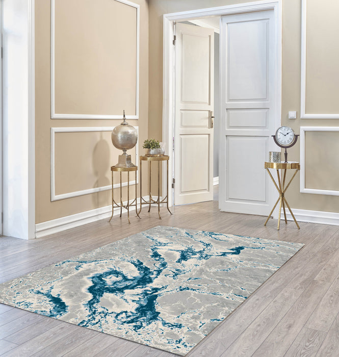 LAPAZ 8744A GREY/BLUE AREA RUG