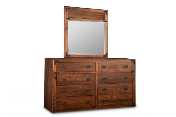 Saratoga High/Long Dresser & Mirror