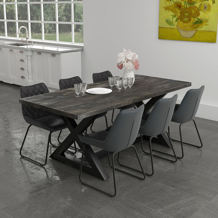 ZAX-DINING TABLE-DISTRESSED GREY