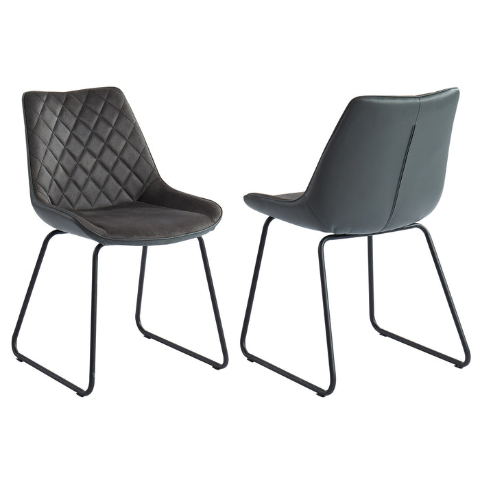 CALVIN-SIDE CHAIR-VINTAGE CHARCOAL, SET OF 2