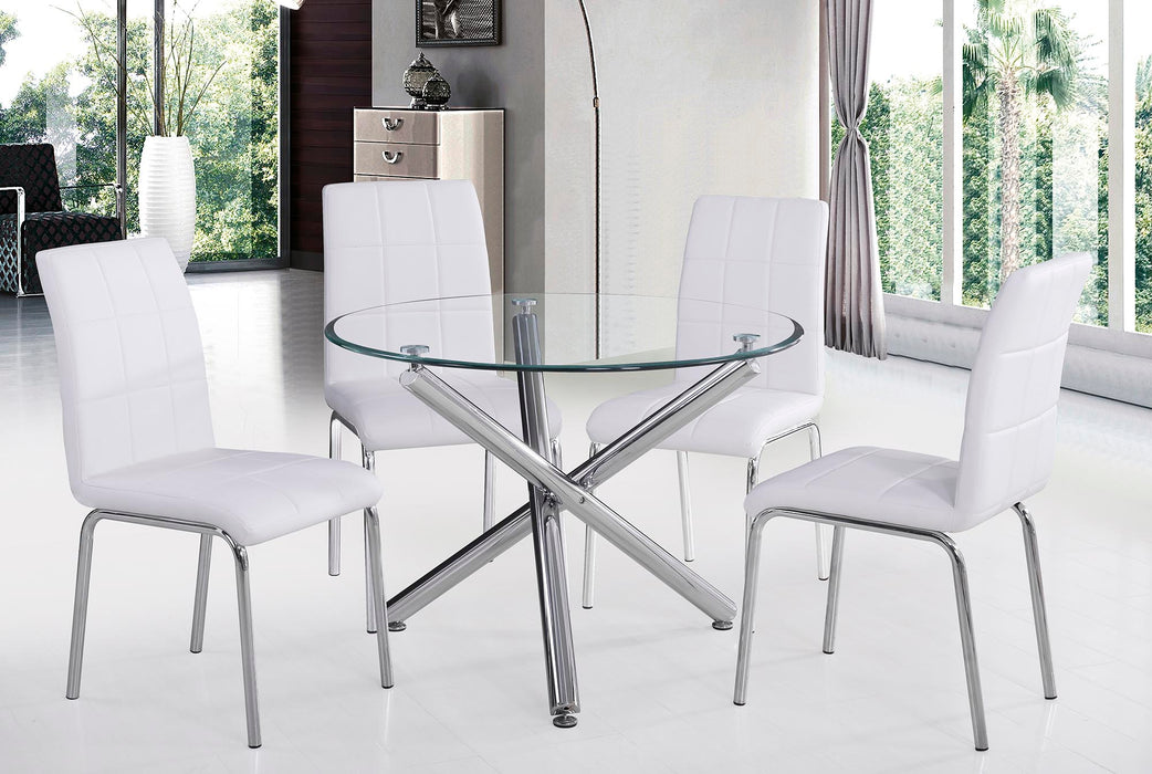 SOLARA II-SIDE CHAIR-WHITE, SET OF 4