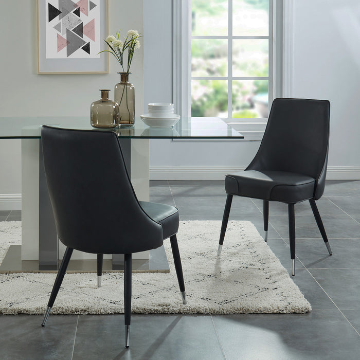 SILVANO-SIDE CHAIR-VINTAGE GREY, SET OF 2