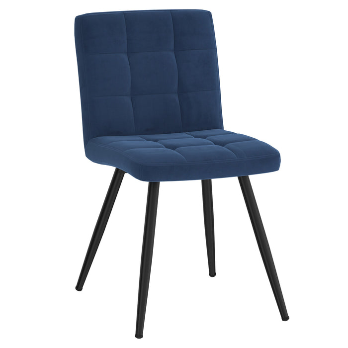 SUZETTE-SIDE CHAIR-BLUE, SET OF 2