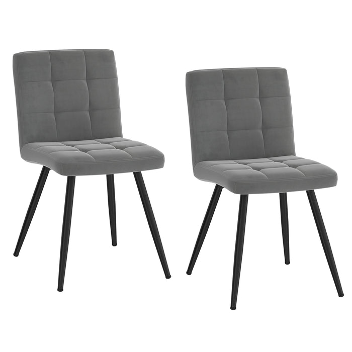 SUZETTE-SIDE CHAIR-GREY, SET OF 2