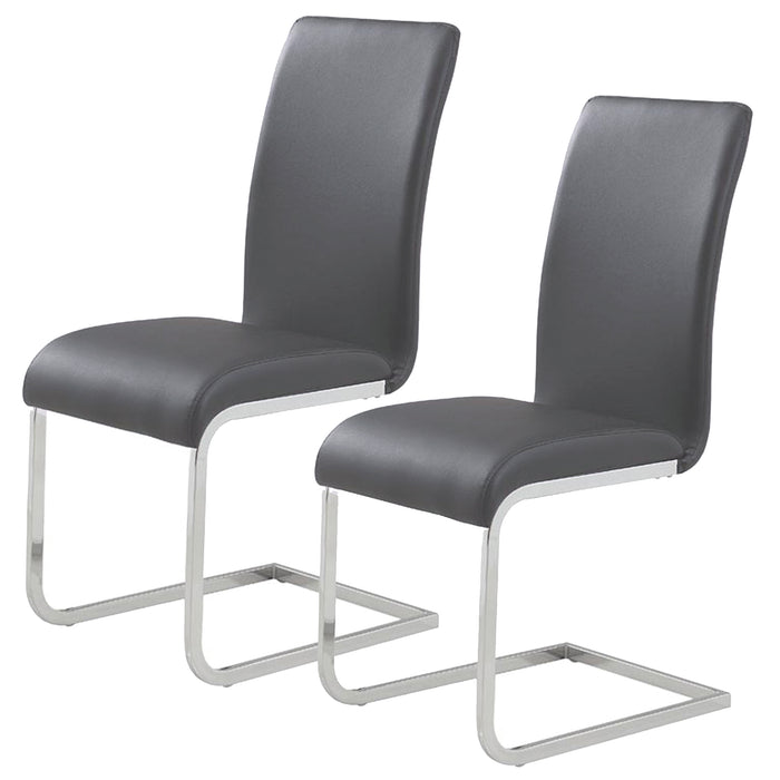 MAXIM-SIDE CHAIR-GREY, SET OF 2