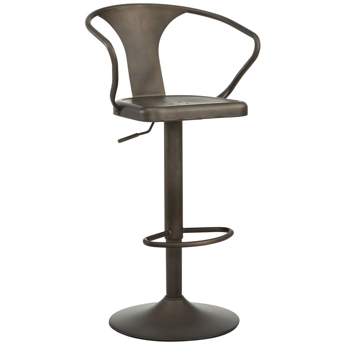 ASTRA-ADJUSTABLE STOOL-GUNMETAL