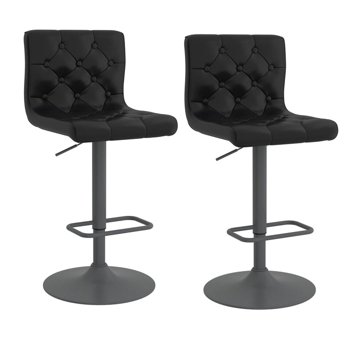 DEX-AIR LIFT STOOL PU-BLACK, SET OF 2