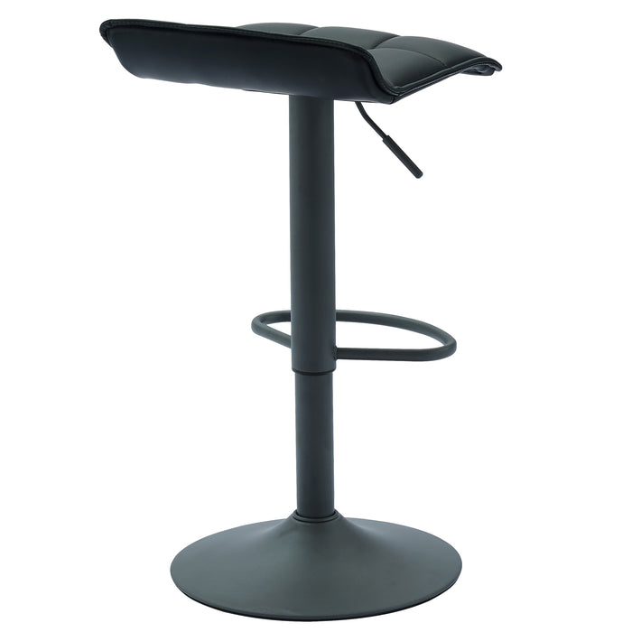COMET-AIR LIFT STOOL-BLACK FAUX LEATHER, SET OF 2