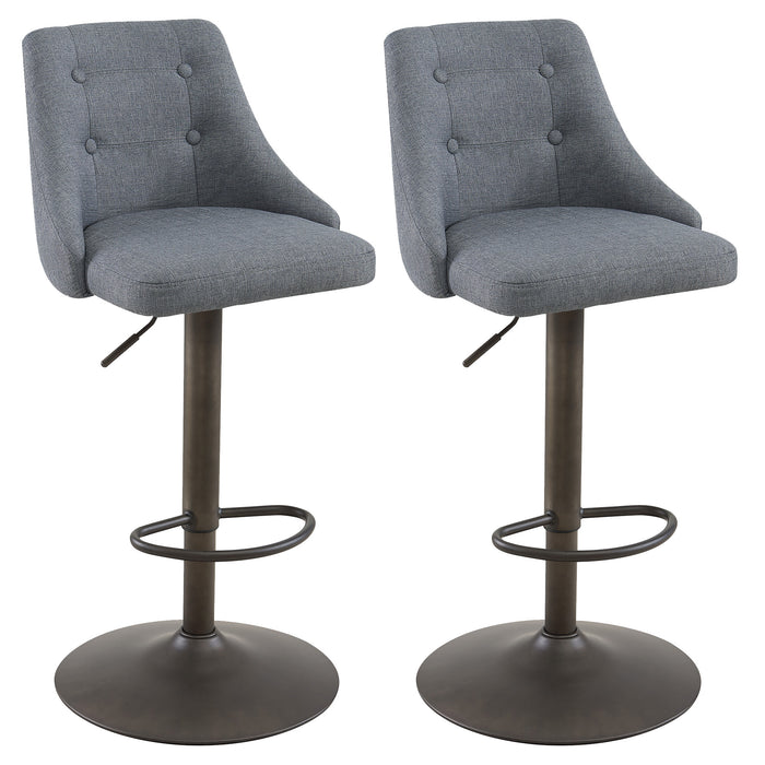 ADYSON-AIR LIFT STOOL-GREY, SET OF 2