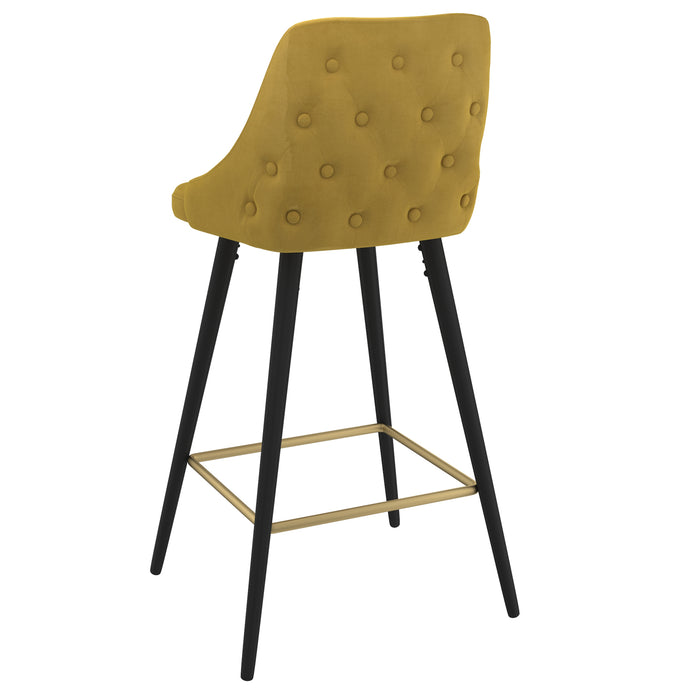 ROXANNE II-26'' COUNTER STOOL-MUSTARD, SET OF 2